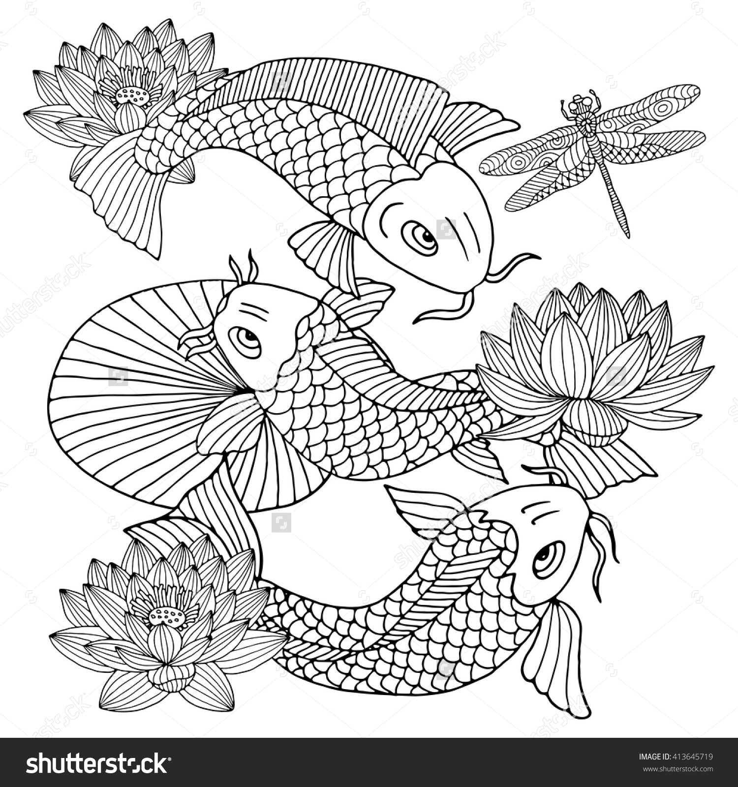 Flower Line Drawing Book : Hd japanese flower coloring pages drawing