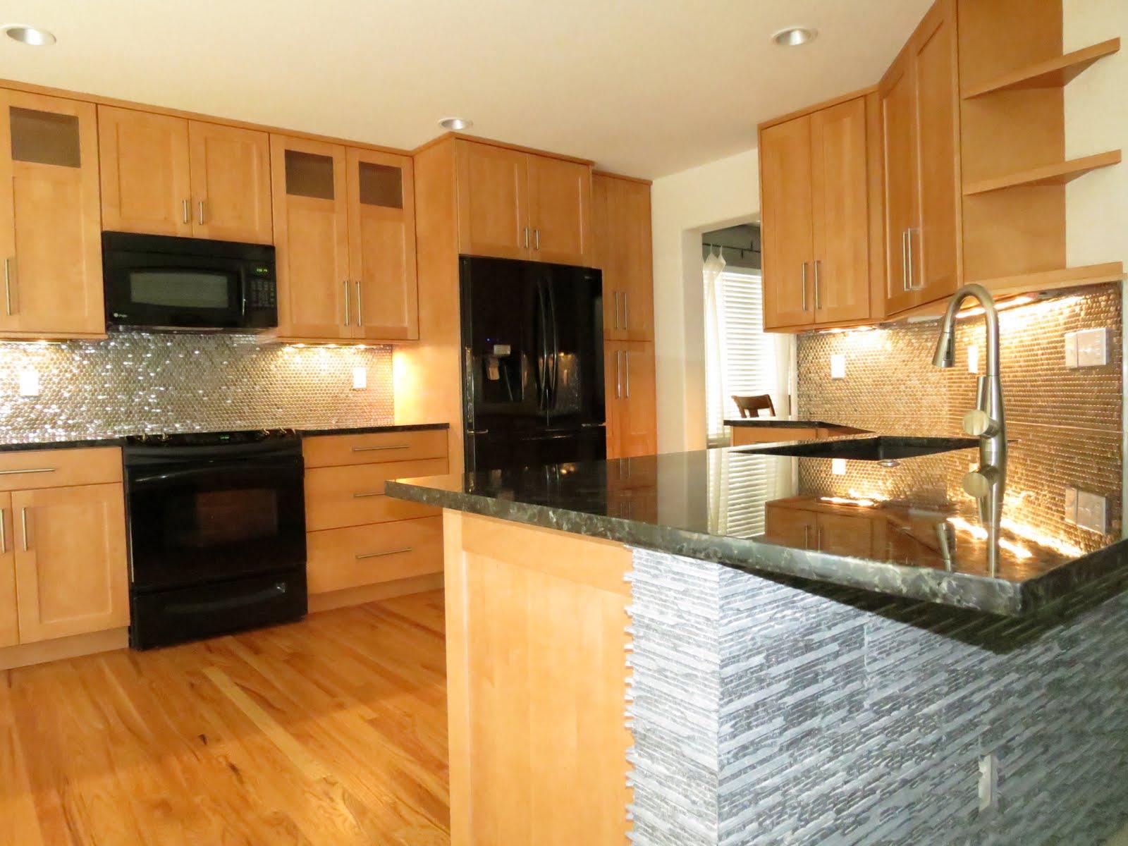 KC Cabinetry Design and Renovation: Sleek Kitchen Design ... on Backsplash For Maple Cabinets And Black Granite  id=98802