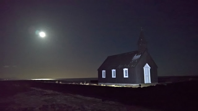 Buðir black church on Snæfellsnes peninsula in Iceland