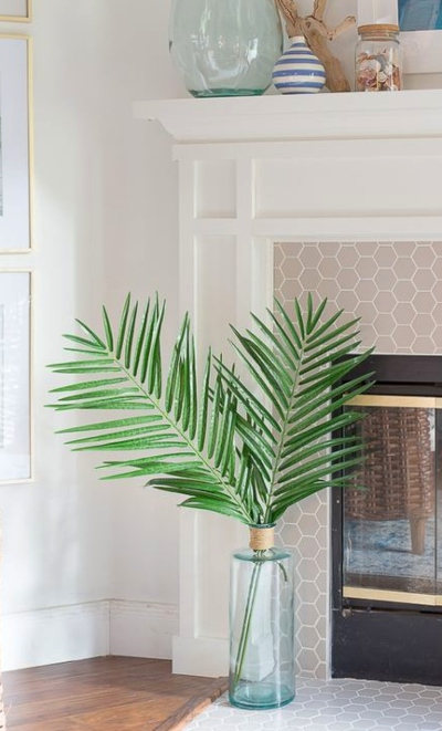 Palm Leaf Decor Accent Ideas Coastal Home Design