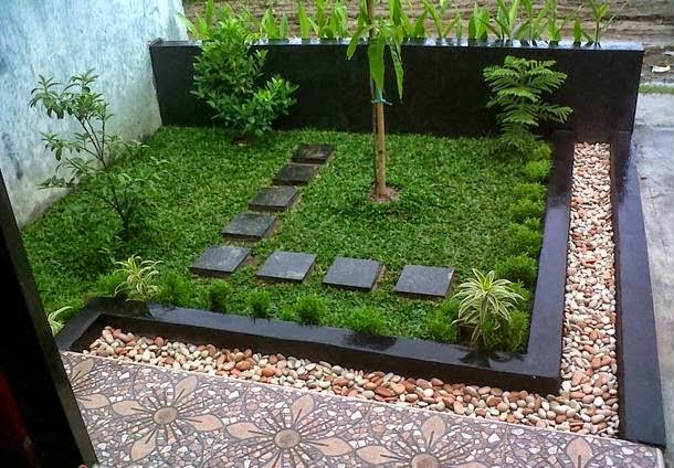 model taman depan rumah minimalis terbaru