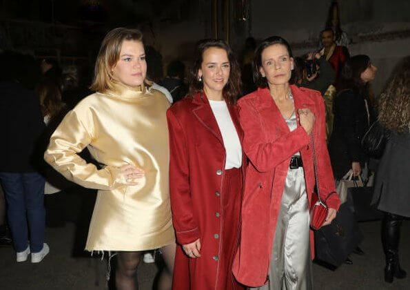 Princess Stephanie of Monaco and her daughters designer Pauline Ducruet and Camille Gottlieb