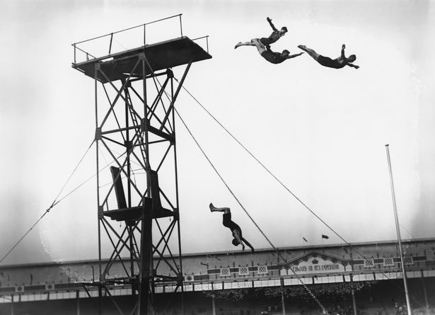 Olympic diving at White City Stadium in London, July 1908. Your Russians are missing and other stories about past Olympics. marchmatron.com