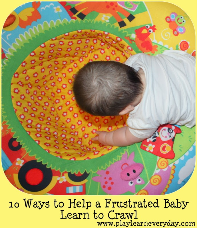 What can you do for a frustrated baby who can't crawl yet?