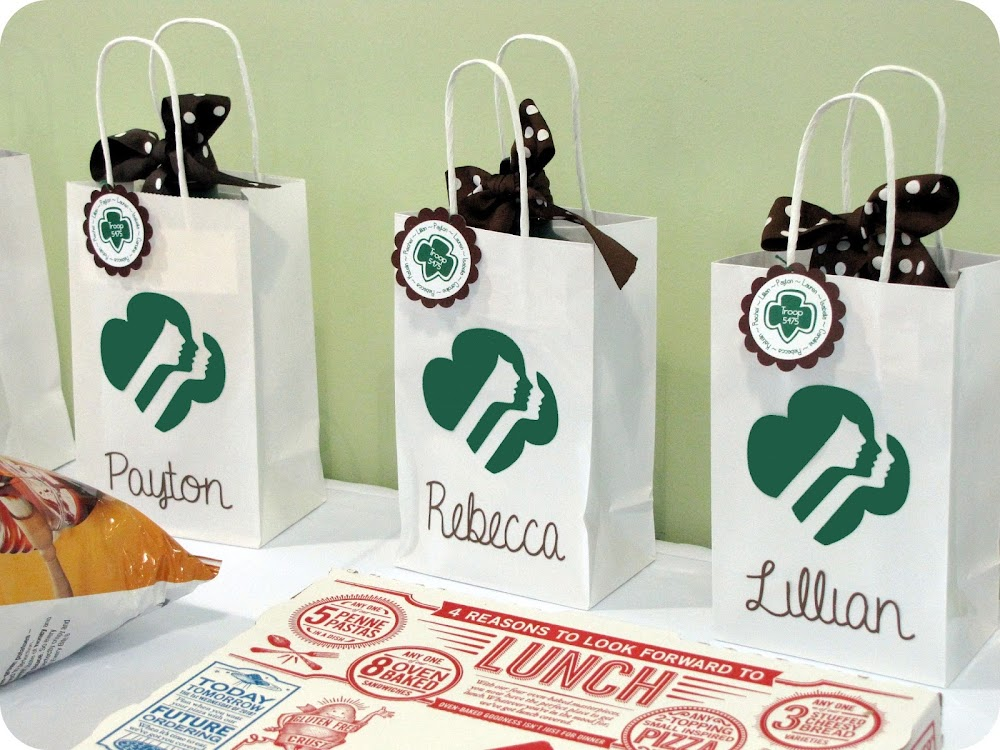 Girl Scout Party Favor Bags