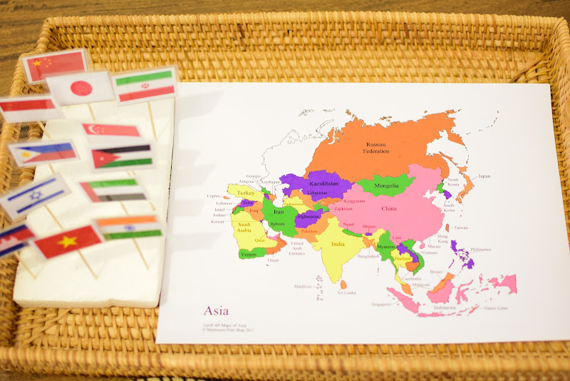 Asia Study for Kids: Pin Flags