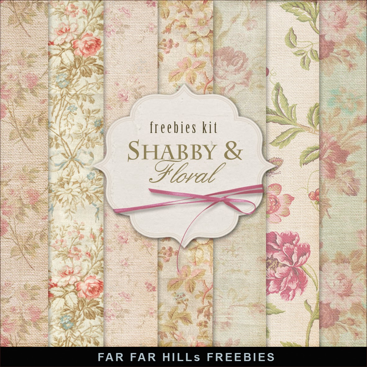 Freebies Kit of Backgrounds - Shabby And Floral