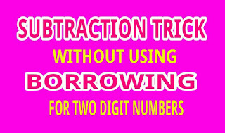 Subtraction fast trick for 2-digit numbers