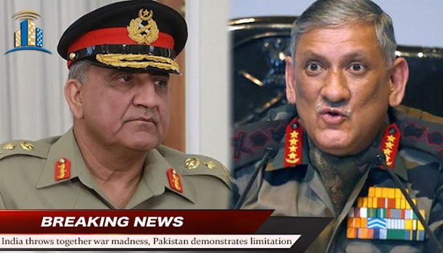 India throws together war madness, Pakistan demonstrates limitation