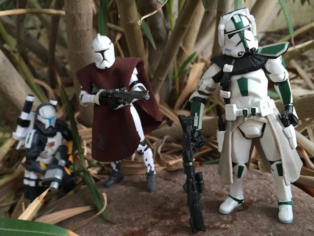 2005 Revenge of the Sith Green Clone Commander, Star Wars, The Clone Wars, Clone Trooper, Scorch