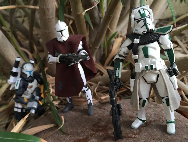2005 Revenge of the Sith Green Clone Commander, Star Wars, The Clone Wars, Clone Trooper, Scorch