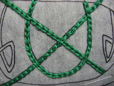 Detail of Celtic knot design