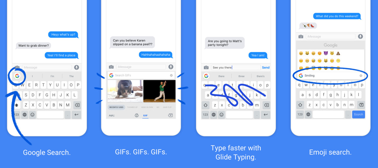 Gboard Google Keyboard for your iPhone with GIF and emoji