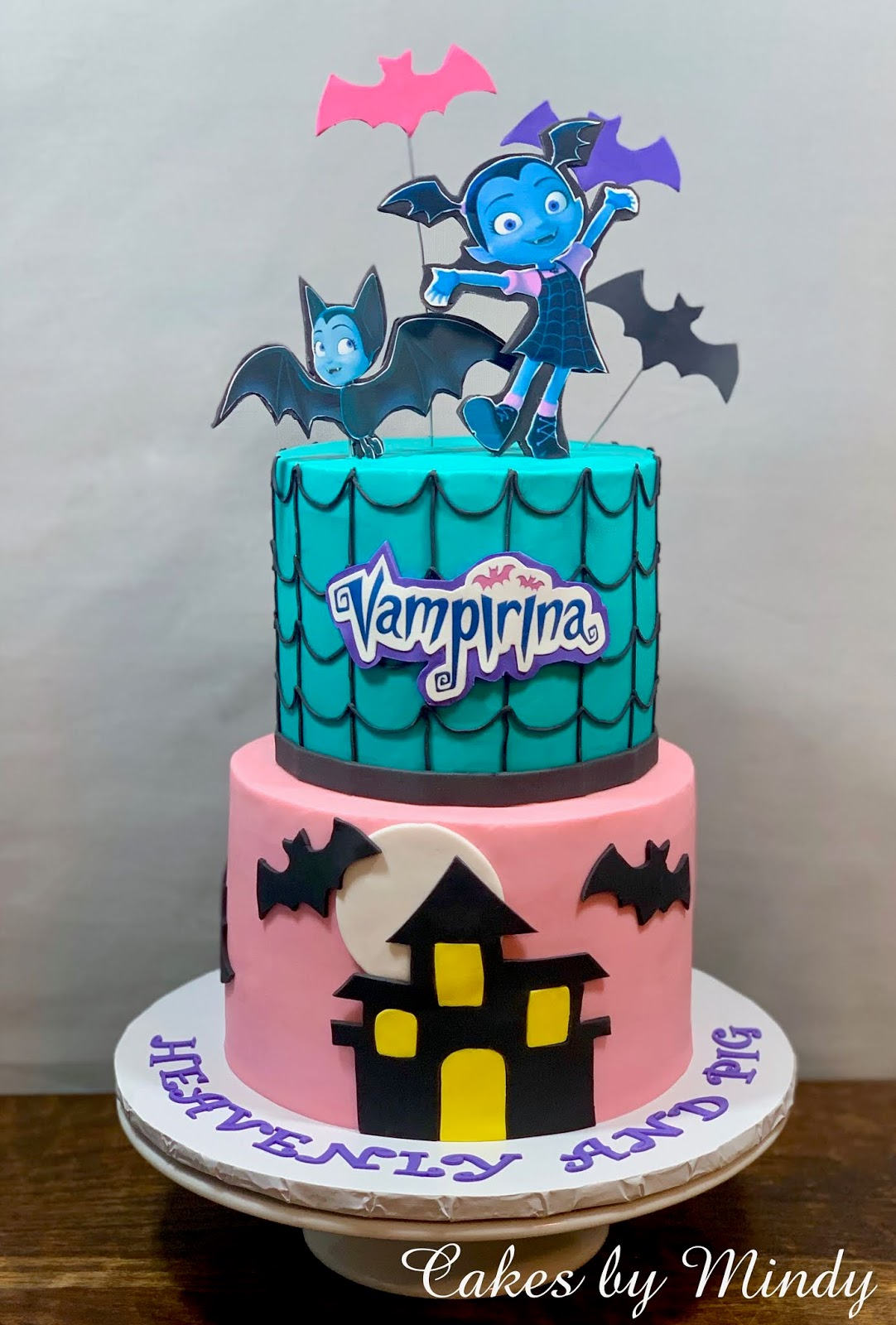 Cakes By Mindy Vampirina Cake 6 Quot Amp 8 Quot And Smash Cake 4 Quot