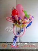rangkaian balon dan bunga, bunga balon ulang tahun, toko bunga di jakarta