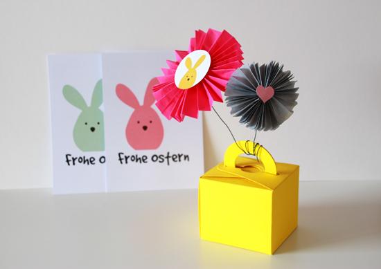 binedoro Blog, DIY, Ostern, Verpackung, Papierrosette