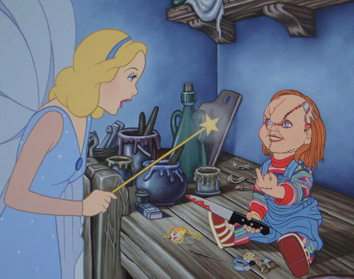 22 Controversial Disney Illustrations Depict How Our Childhood Heroes Would Look Like Today