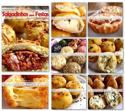 APOSTILA SALGADINHOS PARA FESTAS Apostila com 25 deliciosas receitas com  FOTOS + Brinde Apostila com dicas e 80 receitas de salgadinhos. c5dc8adf83