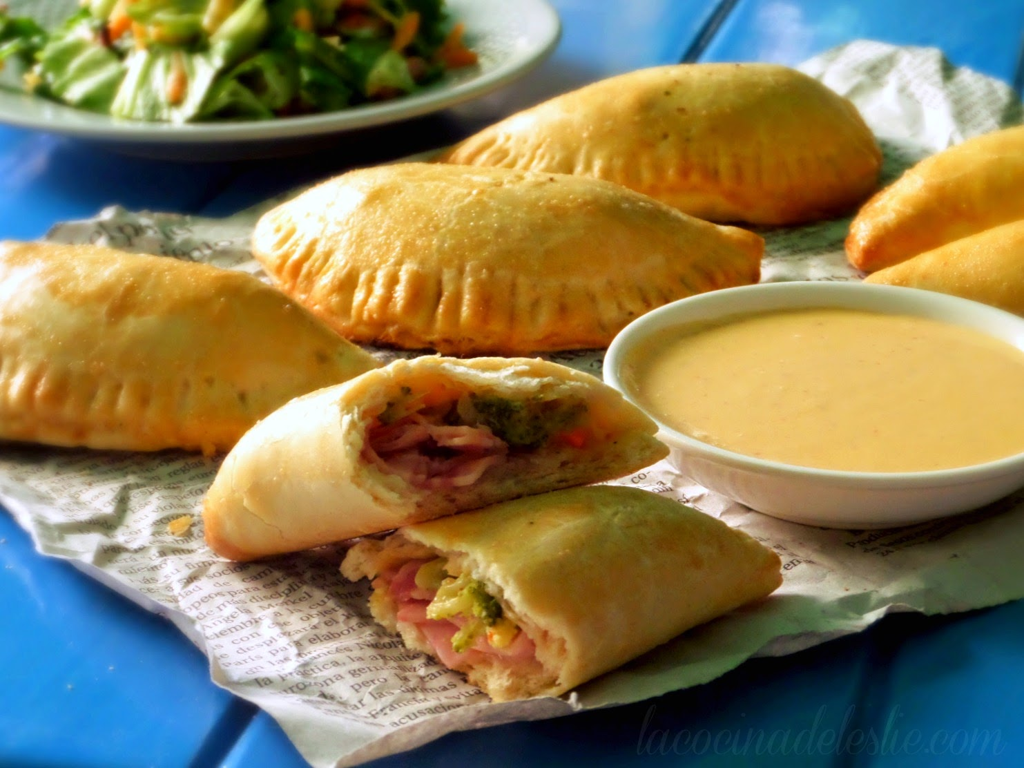 Homemade Ham, Cheese & Broccoli Biscuit Empanadas - lacocinadeleslie.com