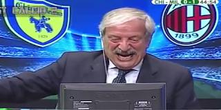Chievo-Milan 1-3 Tiziano Crudeli gode come un riccio