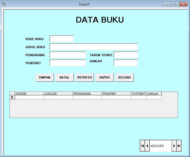 Contoh program billing warnet dengan visual basic concepts