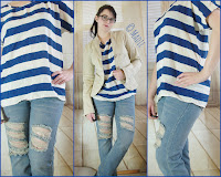 Outfit Boyfriend Jeans, Striped Shirt