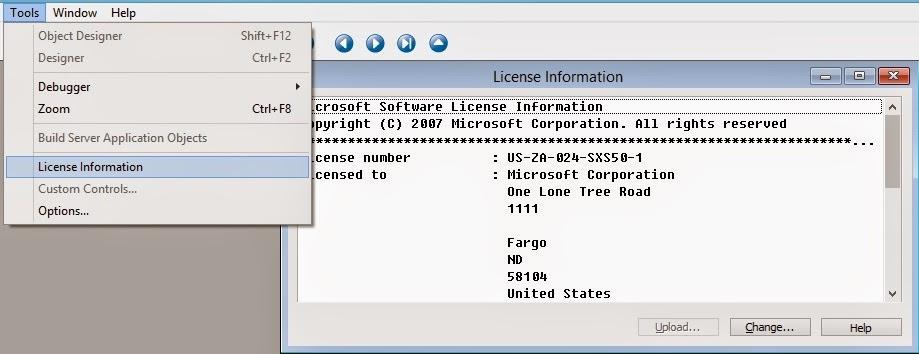 Saurav dhyani microsoft dynamics navision where my license is saved