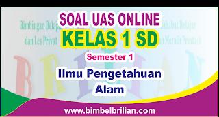 Soal UAS IPA Online Kelas 1 ( Satu ) SD Semester 1 ( Ganjil ) - Langsung Ada Nilainya