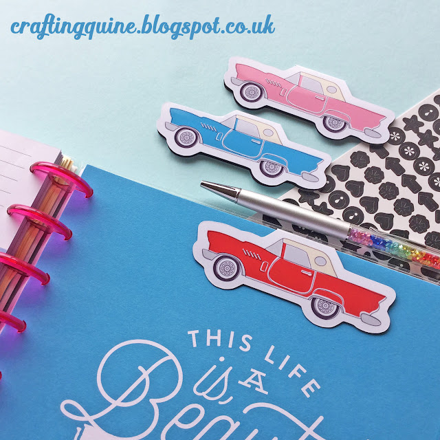 Print & Cut Magnetic Bookmarks Tutorial by Janet Packer https://craftingquine.blogspot.co.uk using Silhouette printable Magnet Sheets. #Bookmark #magnetic #printable #Silhouette