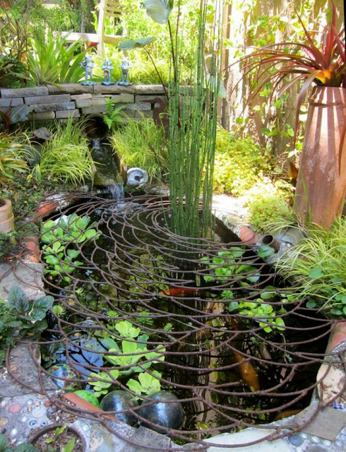 If you are a nature lover and want to expend more time in your outdoor especially in your garden, there are more ideas to make your garden more nature, like adding small ponds. I've have collected 60 ideas of ponds with different styles. Have a look for it and choose one design for your garden.