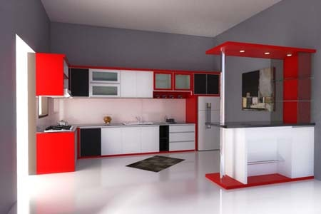 Kitchen Set Minimalis Kontemporer Dapur Modern Keren Elegan Pakar