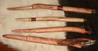 walking stick and magic wand making from wood