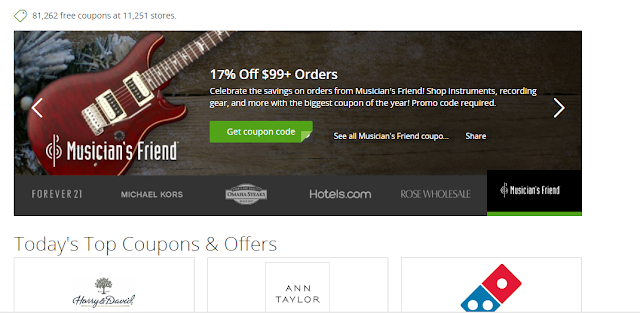 Groupon Coupons have discounts on a wide variety of items.