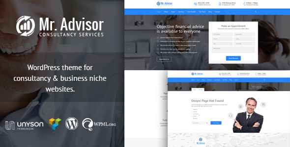 download Mr Advisor - Consultancy WordPress Responsive Theme