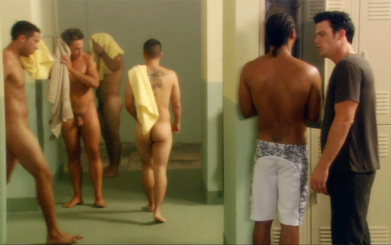 movie locker room nude shower scenes