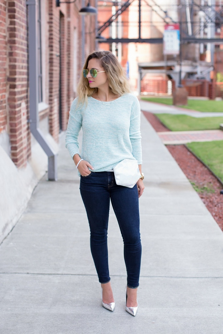 Monochromatic Blue Silver Outfit
