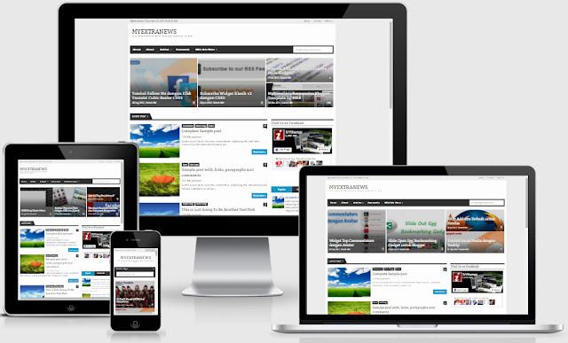 MyExtraNews Responsive Blogger Templates