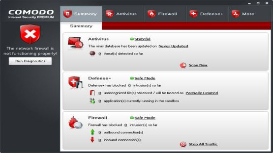Comodo Internet Security screenshot 2