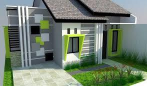 Perpaduan 2 Warna Cat Hijau Rumah Minimalis Tampak Depan Untuk Hunian Masa Kini