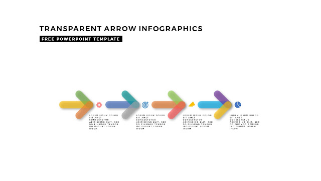 Transparent Arrow Design Elements for Free PowerPoint Template Slide 9