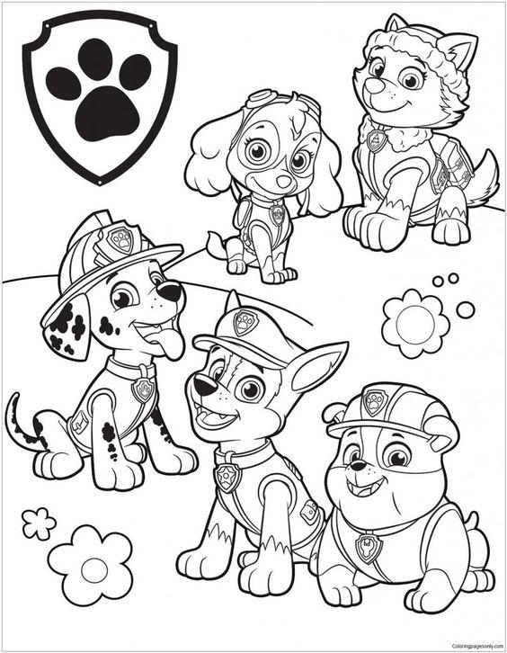 Tranh tô màu những chú chó cứu hộ 5
