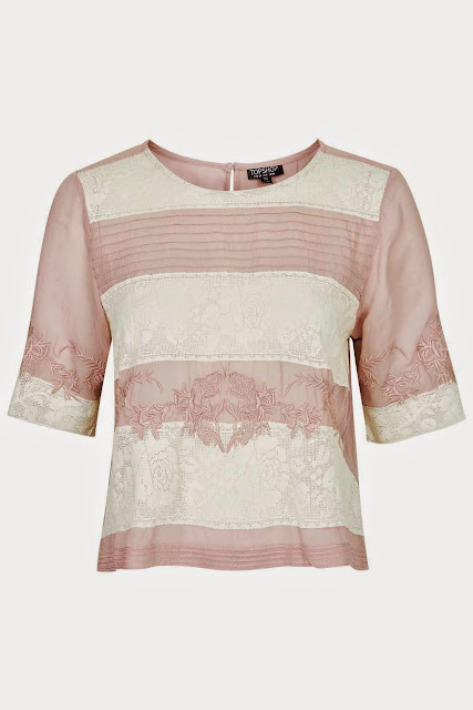 pink cream stripe top