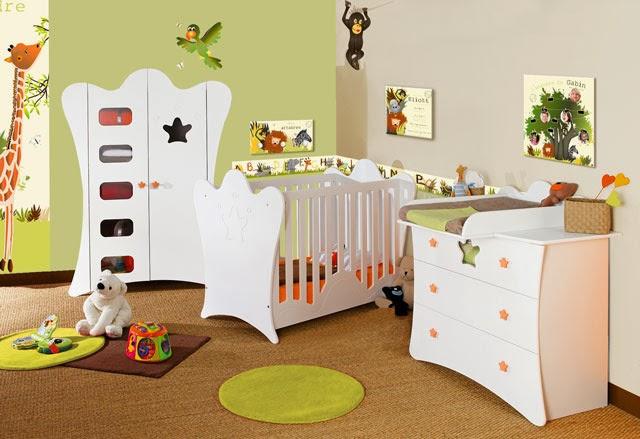 dormitorio bebé tema selva