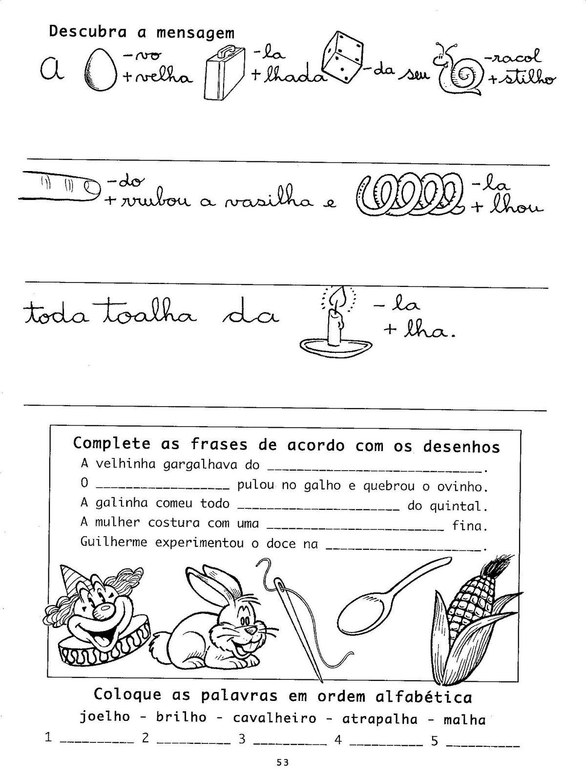 Atividades De Português 2 E 3 Anos Alfabetização Exercícios Para