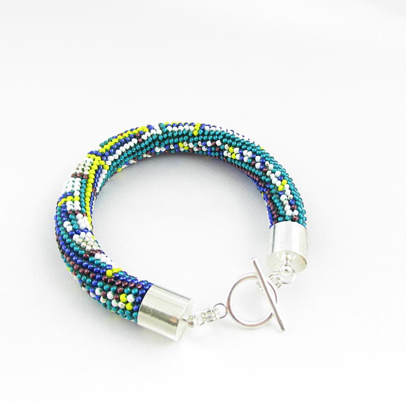 Bracelet bead crochet rope.