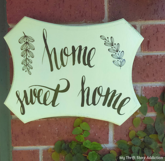 Dollar store decal thrifty sign upcycle