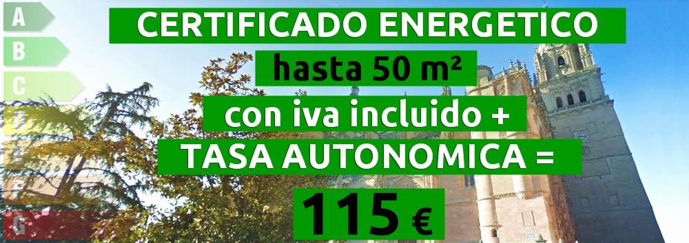 certificado y tasa hasta 50 m2 = 115 €