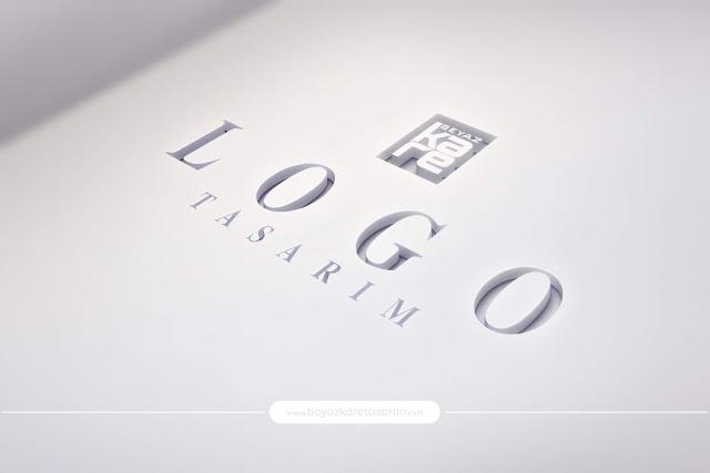 3D logo tasarımı cut oyma