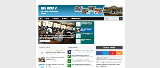Blog Sikula V1 Template - A Responsive Blogger Template Premium