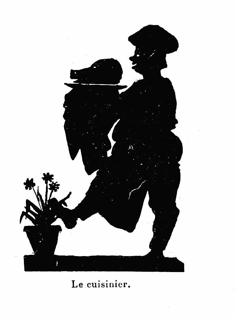 1700s Le cuisinier chef silhouette